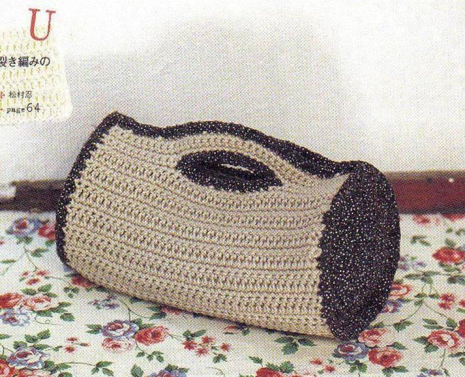 Patron Crochet Bolso Cilindrico