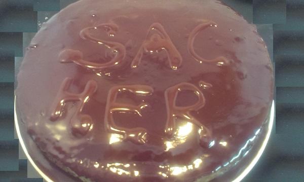 chocolate, cacao, albaricoque, fruta, pastel, sacher, sin gluten, sachertorte