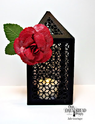 Our Daily Bread Designs Custom Dies: Roses, Rose Leaves, Luminous Lantern