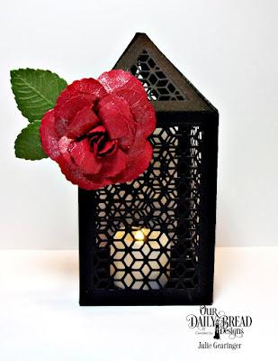 Our Daily Bread Designs Custom Dies: Roses, Rose Leaves, Luminous Lantern