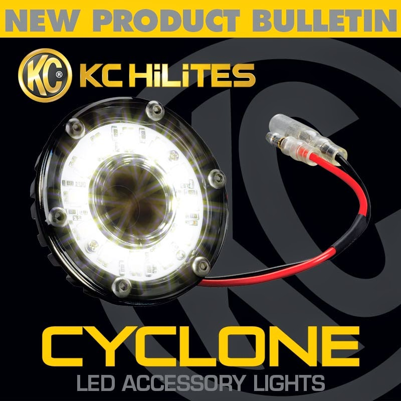 New KC HiLiTES Cyclone LED Accessory Lights - UTV Guide Kc Cyclone Wiring Harness on
