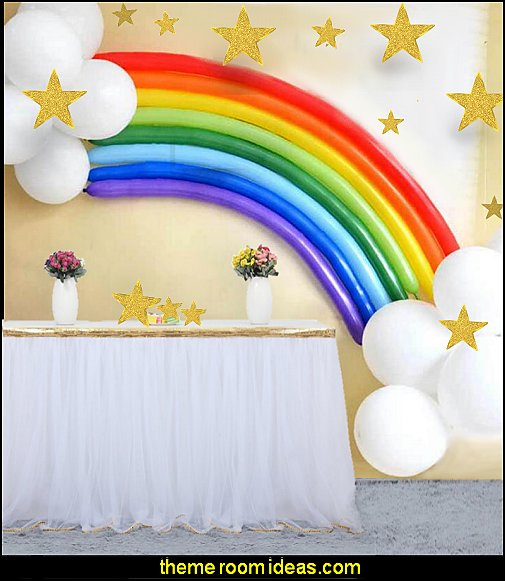 rainbow balloons rainbow unicorn theme party  unicorn party supplies - rainbow unicorn party decorations - unicorn birthday party - Unicorn Themed Party -  Unicorn Balloons  -  unicorrn cupcakes - rainbow decorations - Unicorn  Garlands - sequin tablecloth - tutu table skirt -  Unicorn Costume