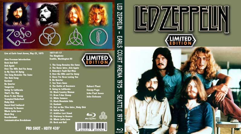 BLURAY LIVE CONCERT: LED ZEPPELIN - EARLS COURT ARENA 1975