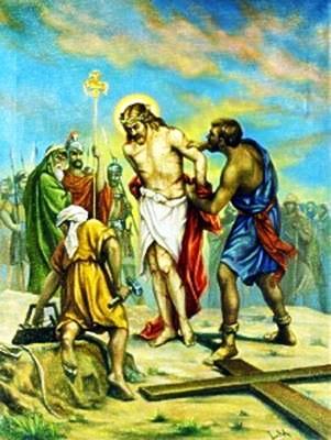 Viacrucis 10 - Jesus Es Despojado De Sus Vestiduras Y Le Dan A Beber Hiel Y Vinagre