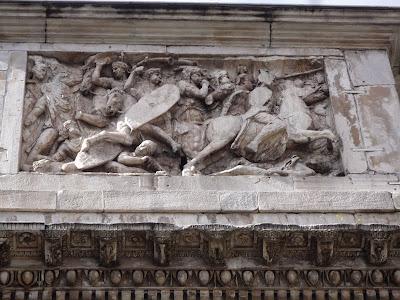 Detalhe de decoração com cena de batalha, Arco de COnstantino