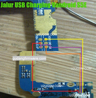 Jalur USB Charger Advan S5E