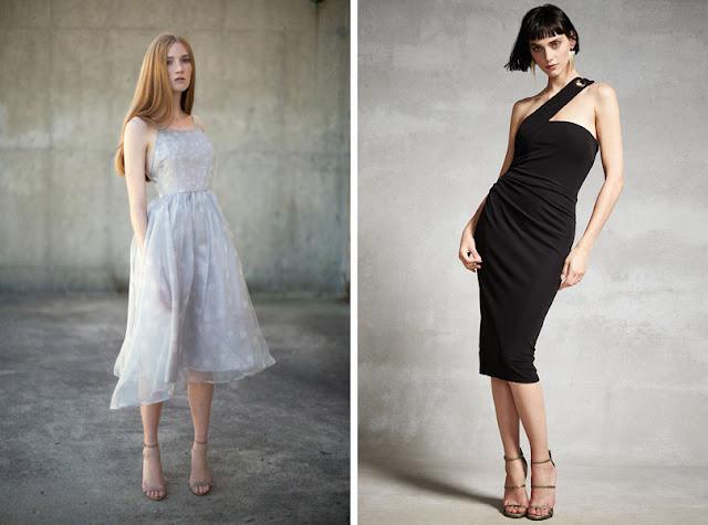 Девушка в белом и в черном платье
