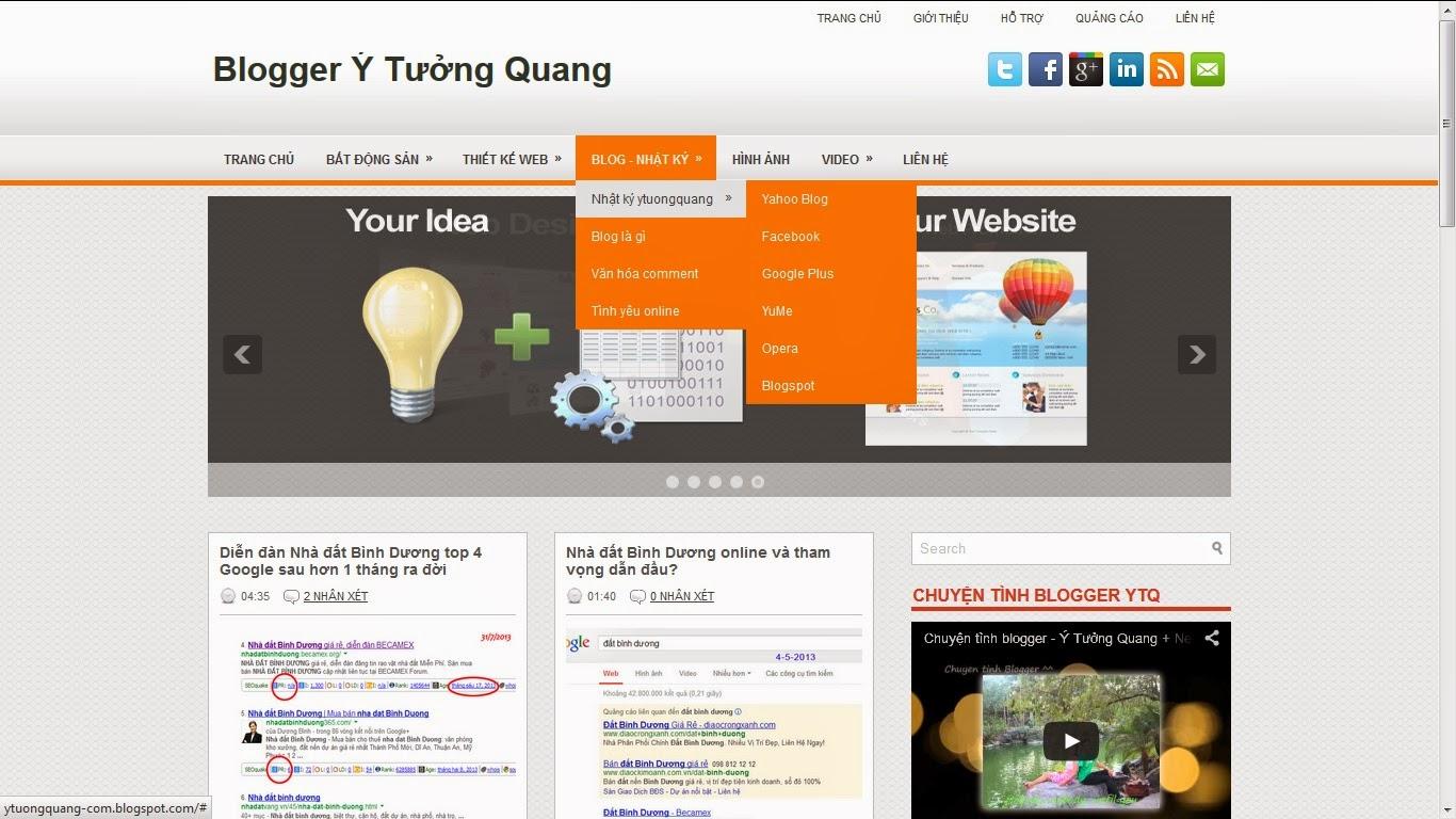 Theme Blogspot đẹp