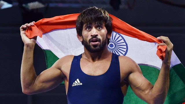 Bajrang Punia at Top in World wrestling.