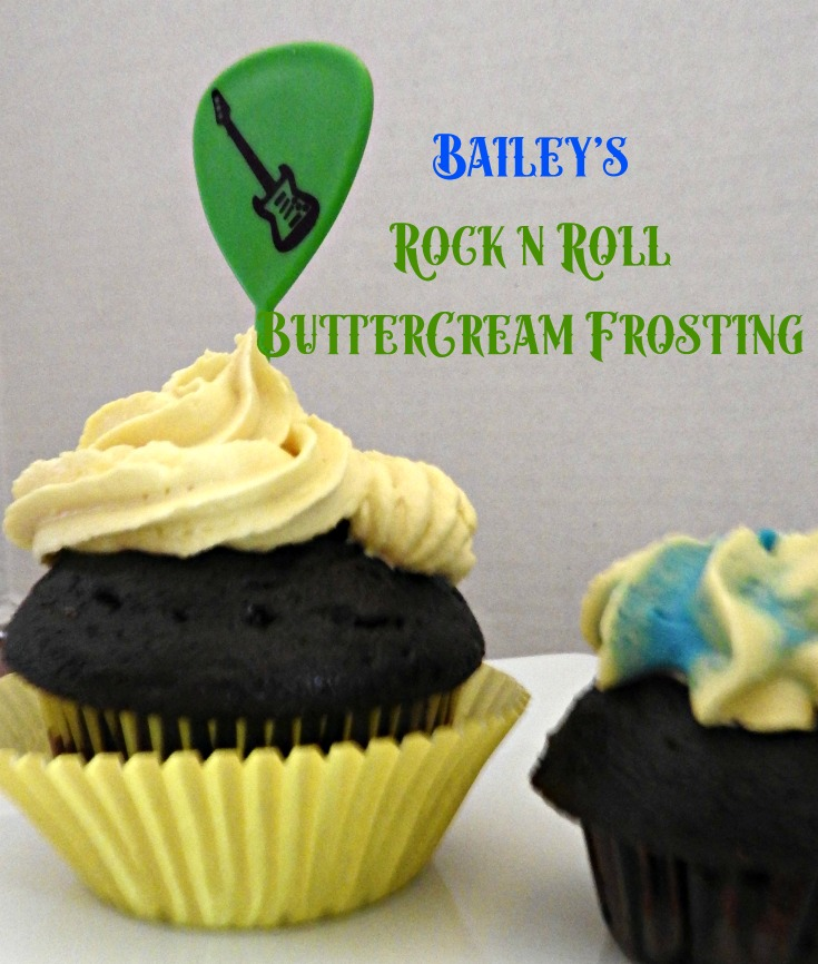 Baileys Buttercream frosting for a rock n roll party