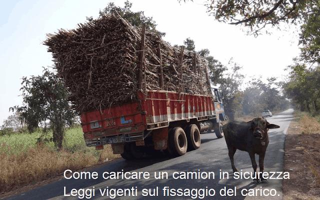 Come caricare un camion: fissaggio del carico