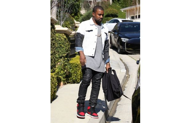 DUTCH LEATHER DESIGN: Kanye West Wears Leather Pants