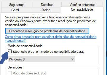 compatibilidade dos programas