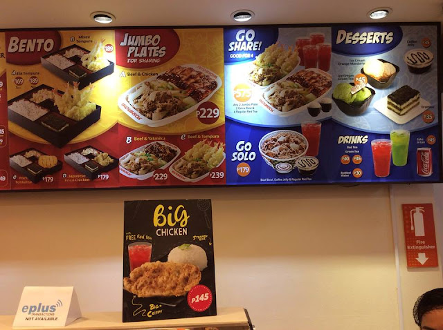 yoshinoya philippines japanese food, price,