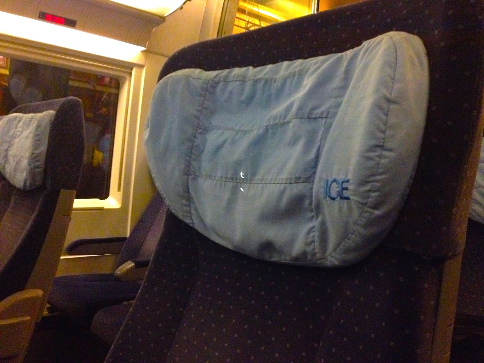 Naik Kereta ICE dan City Night Line dari Amsterdam ke Berlin-1 seat 2nd class ice3
