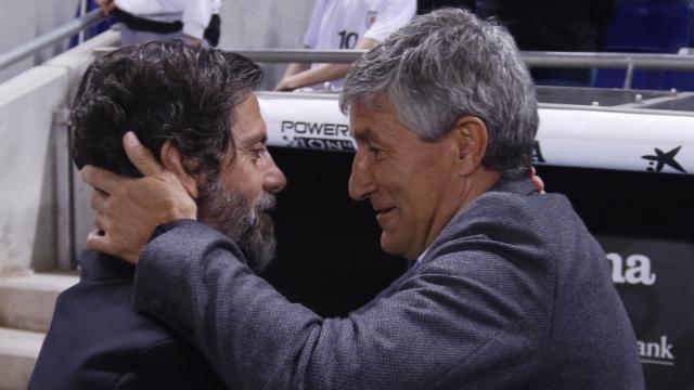 Quique Sanchéz Flores le ganó la partiada a Quique Setién