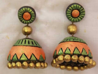 Terracota Jhumkas - Zaamor Diamonds