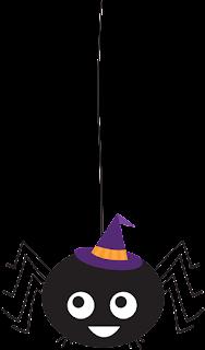 Clipart de Arañas para Halloween.