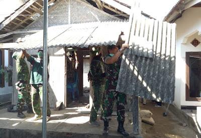 TNI Bongkar dan Rehab Rumah Peraih Emas Zohri