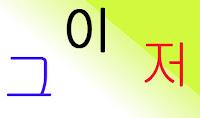 Kata Tunjuk Dalam Bahasa Korea