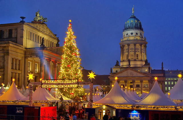 Berlin christmas market germany winter wallpaper