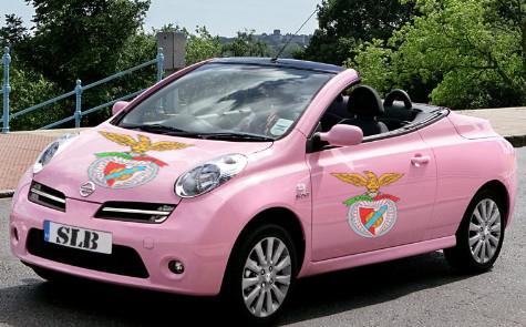 carocha beetle benfica slb benfiquista cor de rosa