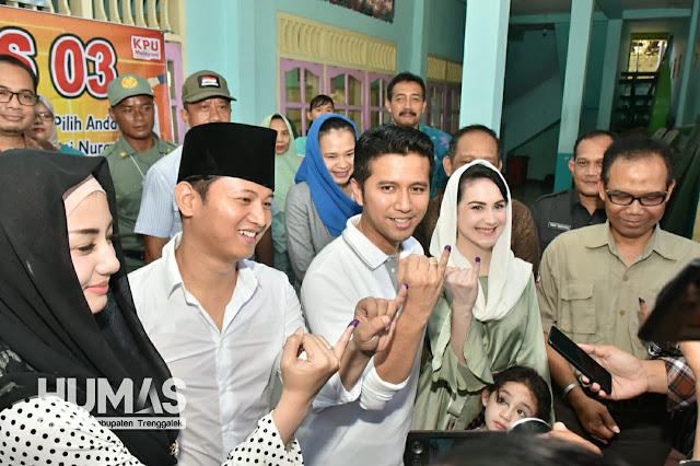 Plt. Bupati Trenggalek, Ikut Mendampingi Wagub Jatim Meninjau Pelaksanaan Pemilu di Trenggalek