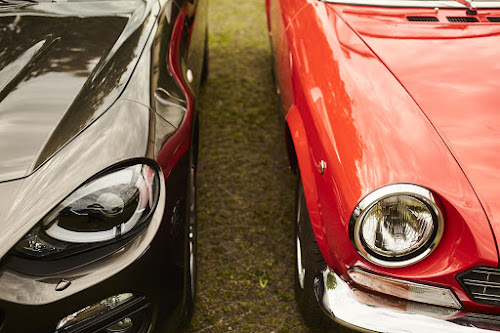 Classic and Modern Spider Headlight Details