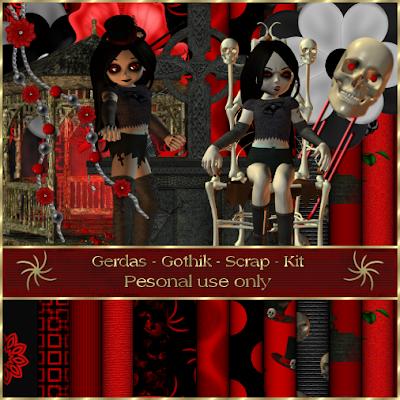 Gerdas scrap 39 s gothic scrap - Gothic adventskalender ...