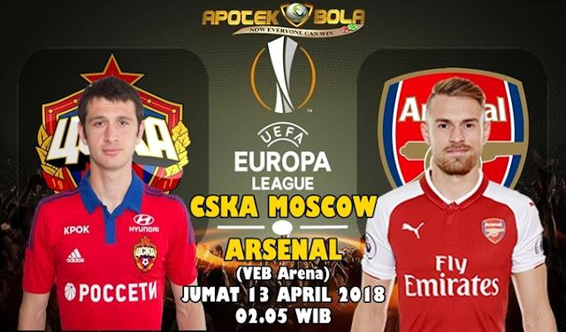 Prediksi CSKA Moskow vs Arsenal  13 April 2018