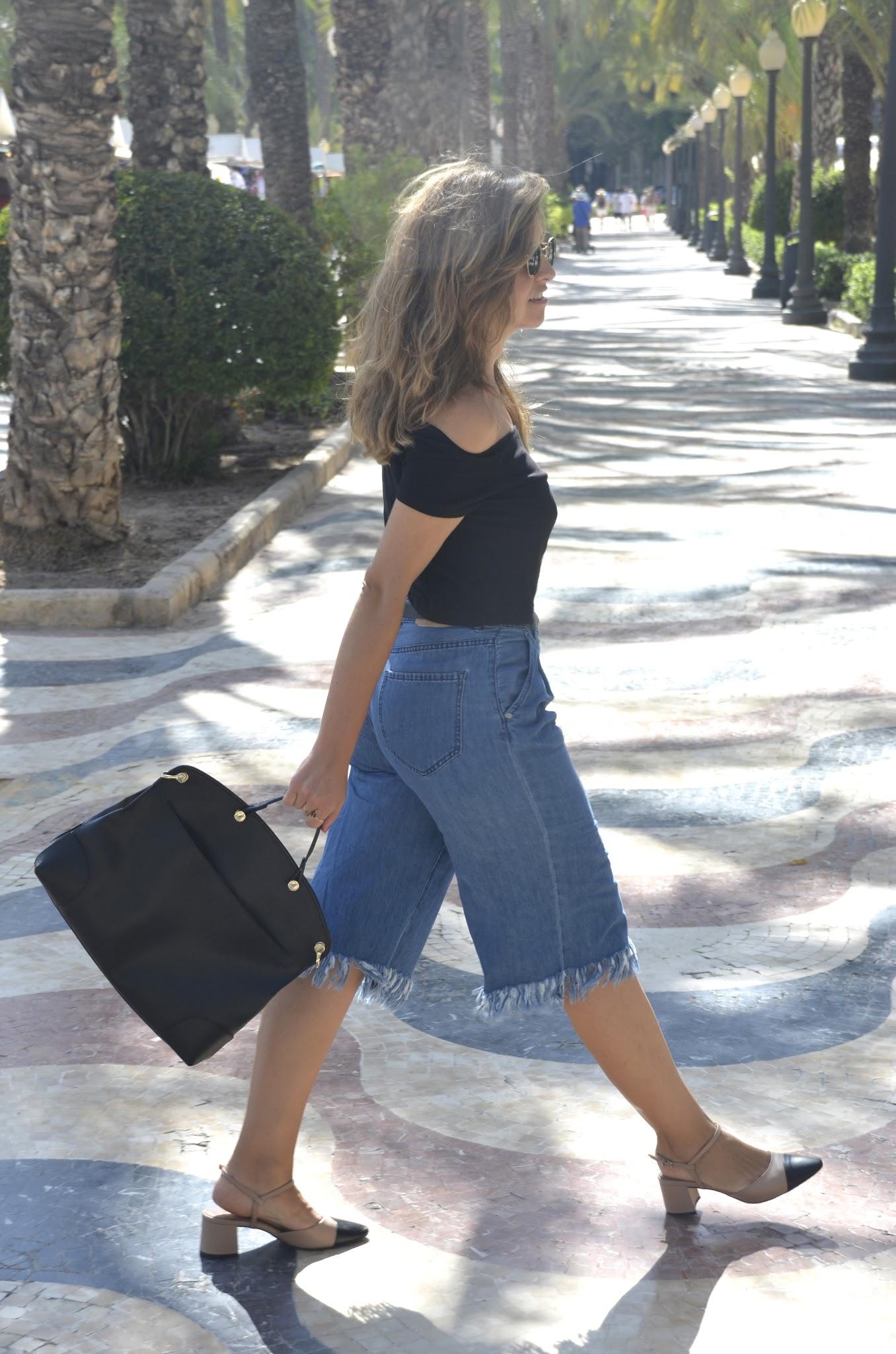 tendencia zapatos bicolor clon slingback chanel