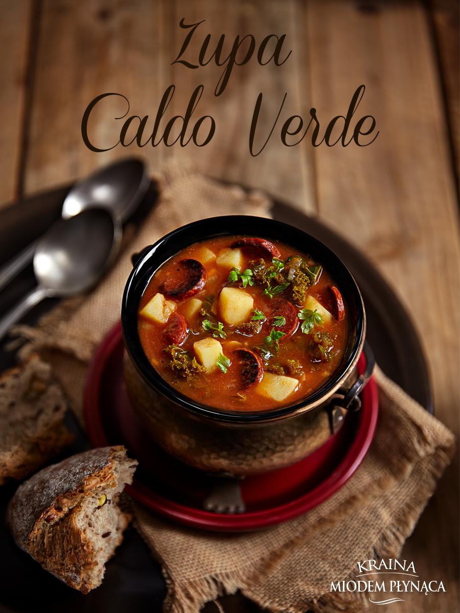 zupa caldo verde, zupa z jarmużem, zupa z chorizo, pikantna zupa, portugalska zupa, portugalska potrawa, kraina miodem płynąca