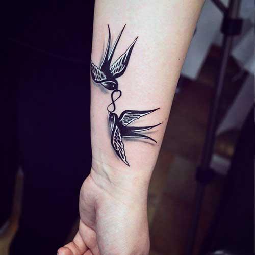 kuşlar ve sonsuzluk işareti dövmesi tumblr