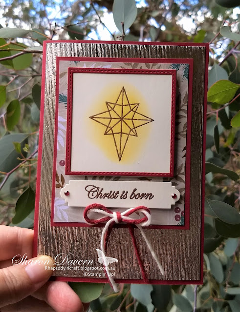 Illuminated Christmas, His Light, Subtle TIEF, Rhapsody in craft, Christmas Cards, DIY Card, AWH Blog Hop,