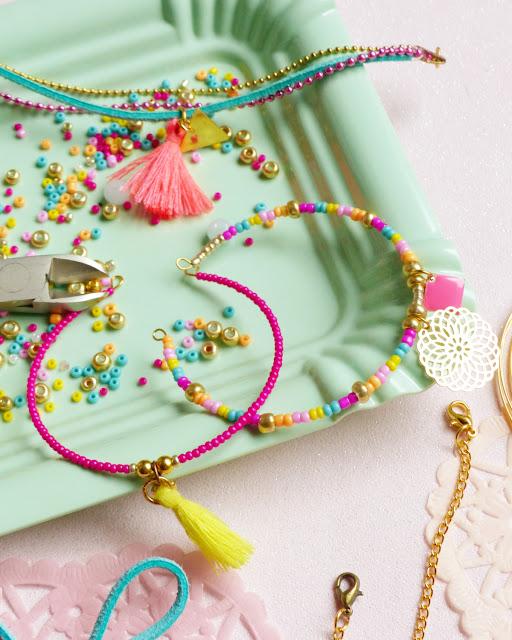 DIY, tutoriel, bracelet, bijoux, une fille à frange, perle des loisirs