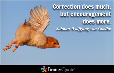quotes about positive thinking: Correction does much, but encouragement does more.