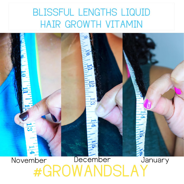 #GrowAndSlay Length Check Update - Month 2 with Blissful Lengths Liquid Hair Growth Vitamin