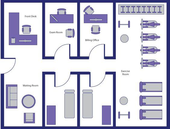 desain ruangan fisioterapi yang modern seperti diluar negeri
