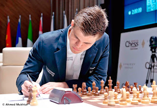 Echecs : Magnus Carlsen leader du Mémorial Vugar Gashimov - Photo site officiel