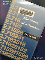 e: The Story of a Number,  by Eli Maor, superimposed on Intermediate Physics for Medicine and Biology.