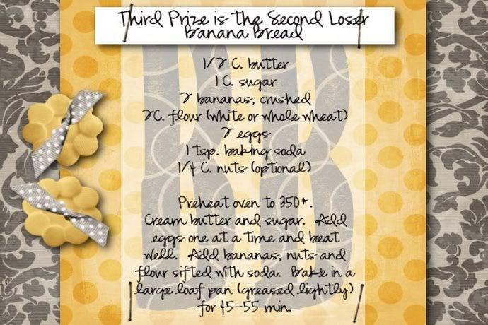 banana bread recipe card - photo #21