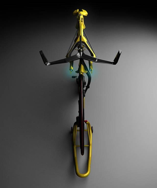 pandangan atas basikal