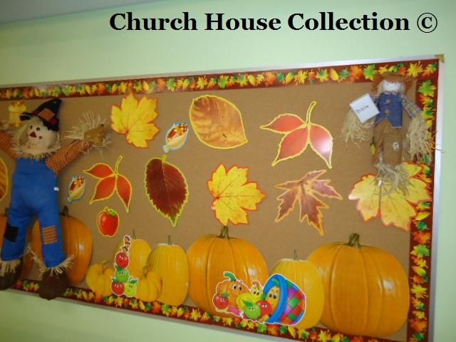 Church House Collection Blog Fall Scarecrow Bulletin Board Idea