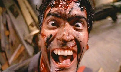bruce campbell blood sangre posesión infernal evil dead laughing