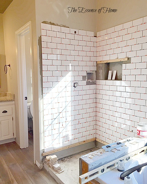 The Essence Of Home Master Bathroom Renovation Progress