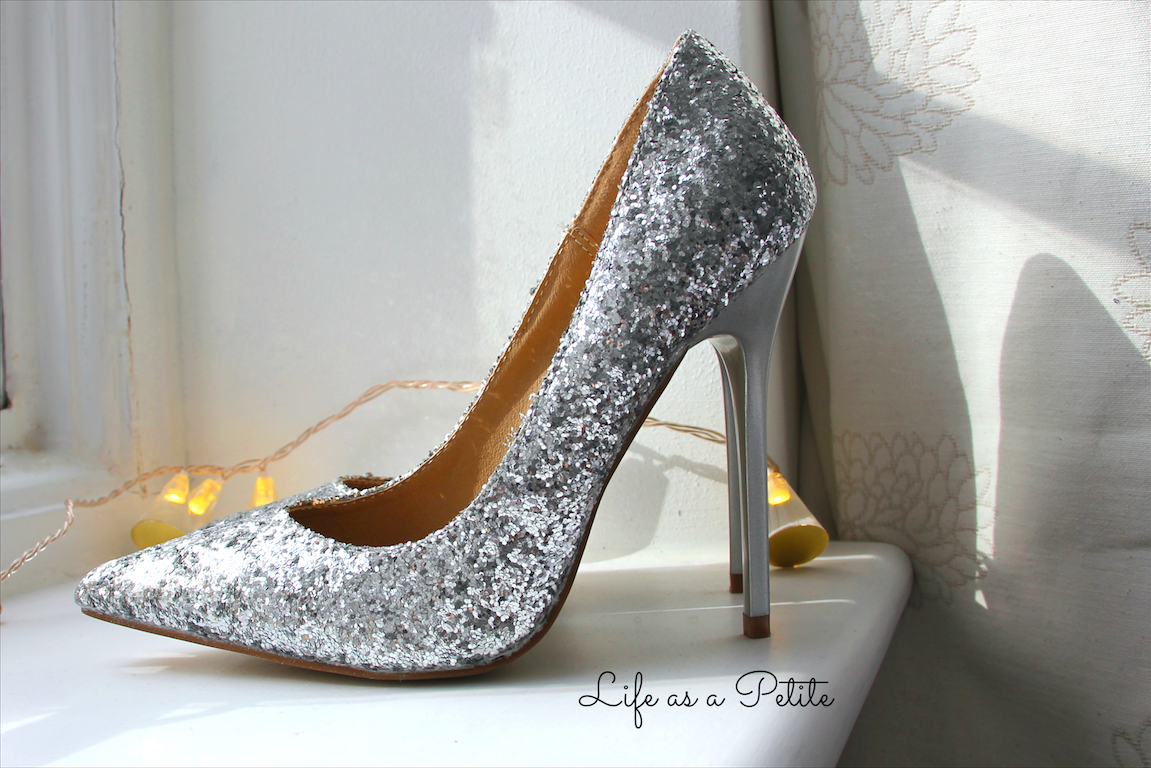 Missguided Sequin Glitter Heels