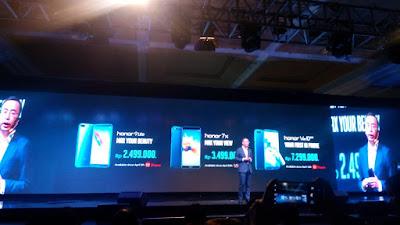 Honor Ramaikan Bursa Smartphone di Indonesia dengan membawa Tiga Produk