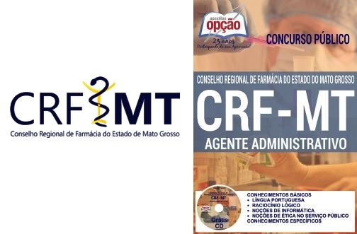 Apostila concurso CRF MT 2016 Agente Administrativo