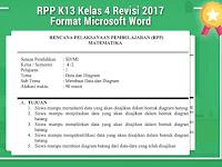 RPP K13 Kelas 4 Revisi 2017 Format Microsoft Word