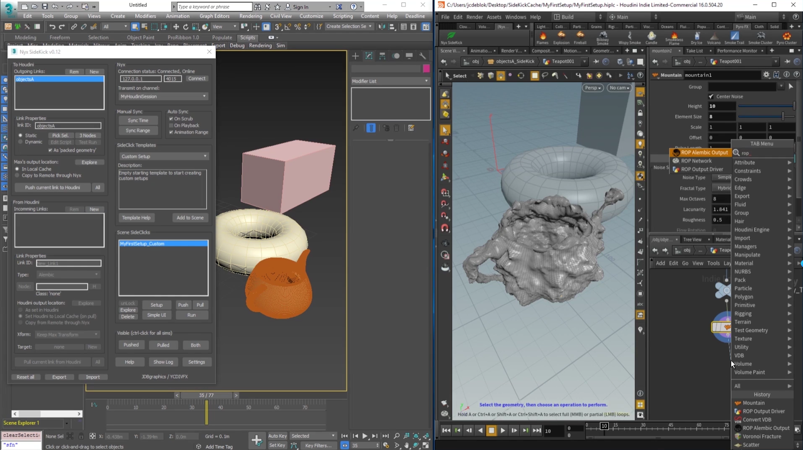 Free Download Nyx SideKick Beta | 3dsMax and Houdini Bridge Tool ...